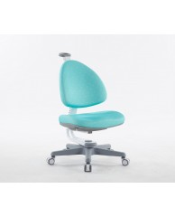 TC1008AGW BABO CHAIR (WHITE IN AQUA GREEN FABRIC)