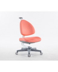 TC1008CRW BABO CHAIR (WHITE IN CORAL RED FABRIC)