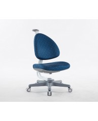 TC1008DBW BABO CHAIR (WHITE IN DEEP BLUE FABRIC)
