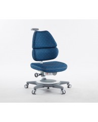 TC1010DBW EGO CHAIR (WHITE IN DEEP BLUE FABRIC)